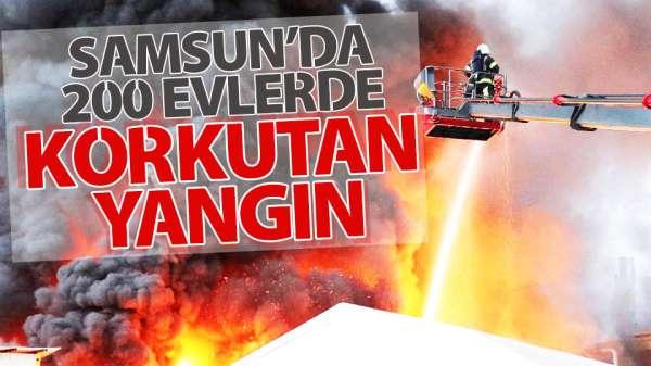 200 Evlerde yangın