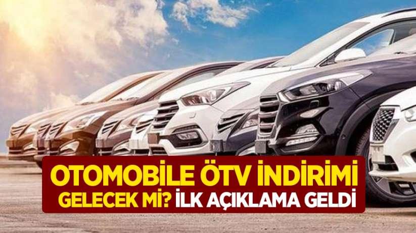 Otomobile ÖTV indirimi gelecek mi? İlk açıklama geldi