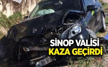 Sinop Valisi Erol Karaömeroğlu kaza geçirdi