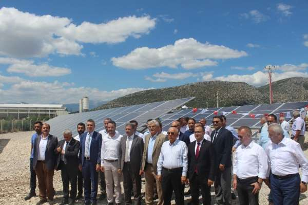 Bucak OSB güneş enerjisi panelleri hizmete girdi
