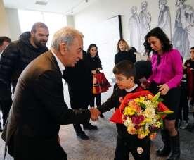 Adnan Polat, Galatasaray Nusaybin Futbol Okulu'nun öğrencileri buluştu