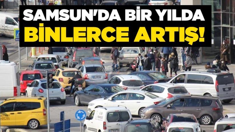 Samsun'da bir yılda binlerce artış!
