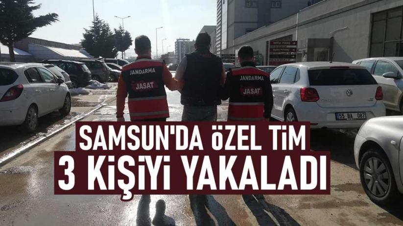 Samsun'da özel tim 3 kişiyi yakaladı