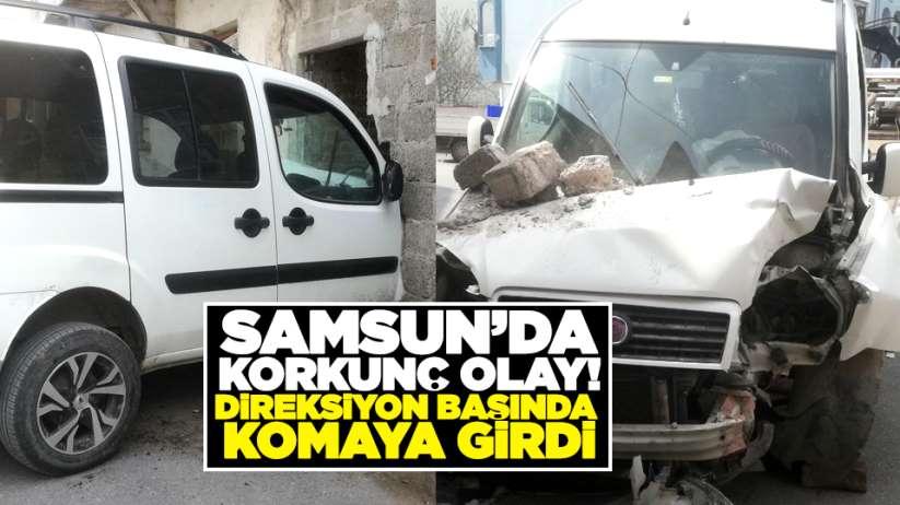 Samsun'da korkunç olay! Direksiyon başında komaya girdi