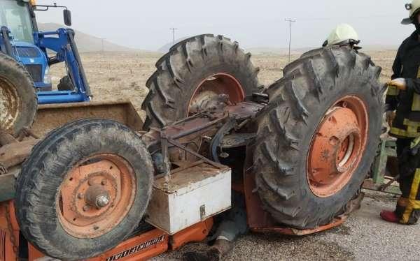 Karamandaki traktör kazasında baba öldü, kızı yaralandı