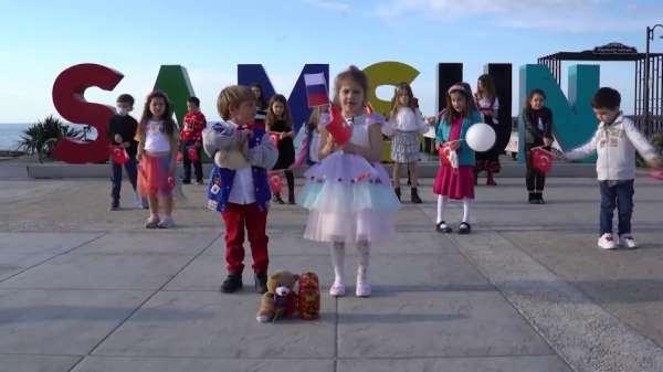 Samsunlu çocuklardan Rus çocuklara mesaj: Bizim için tek Karadeniz, tek gökyüzü ve güçlü bir dostluk var