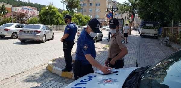 Alaçam polisinden maske uyarısı