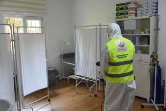 Altınordu'da aile sağlığı merkezleri sterilize ediliyor