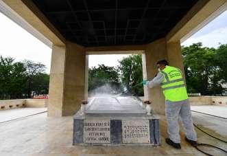 Kore şehitleri anıtı etkinlikler için hazırlandı