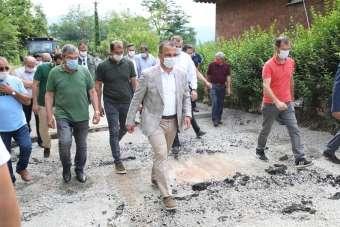 Yalıköy Köseli-Sırakovancı-Kutluca grup yolu tozdan ve çamurdan kurtuluyor
