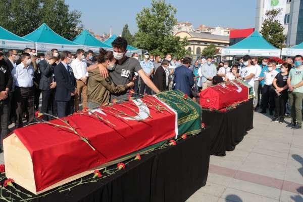 Kazada vefat eden BASKİ personelleri için tören düzenlendi