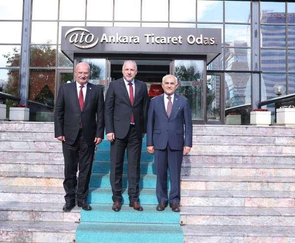 Kosova Bölgesel Kalkınma Bakanı Damkadan ATO Başkanı Barana ziyaret