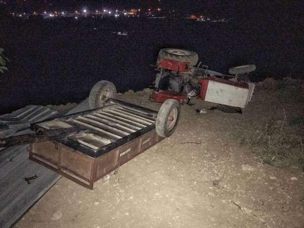 Sökede traktör kazası