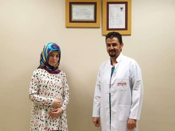4 aylık hamile genç kadın, radyasyonsuz ERCP ile taşından kurtuldu