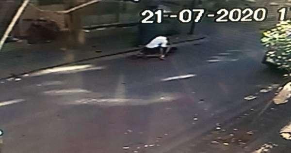 (Özel) Zeytinburnu'nda silahlı saldırı anı kamerada