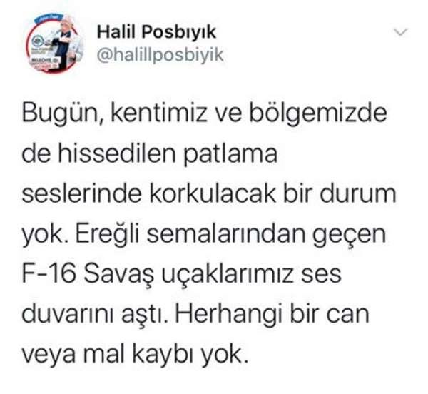 Zonguldak'ta patlama seslerinin nedeni belli oldu