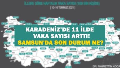 Karadeniz'de 11 ilde vaka sayısı arttı! Samsun'da son durum ne