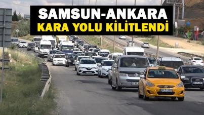 Samsun-Ankara kara yolu kilitlendi
