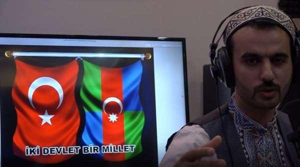 Azerbaycan ordusuna marşlı destek