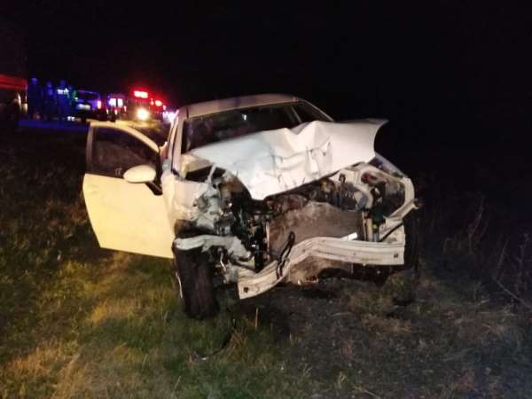 Manyas'ta trafik kazası: 1 ölü, 2 yaralı