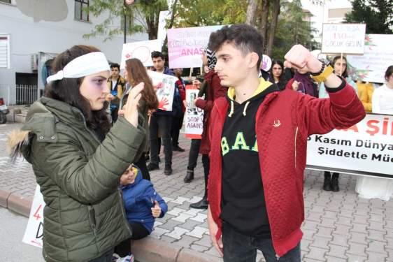 Samsun Haberleri: Bafra Kadına Şiddete Hayır Dedi!