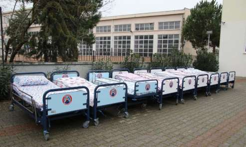 Bafra Belediyesinden hasta yatağı desteği
