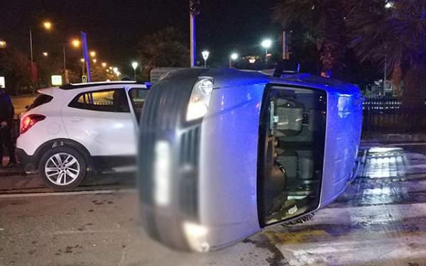 Samsun'da kavşakta trafik kazası: 2 yaralı