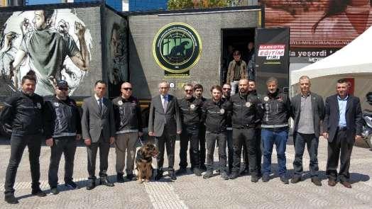 Narkotik Eğitim Tırı Samsun'da