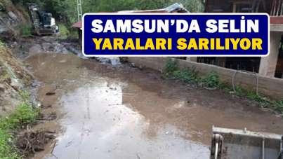 Samsun'da selin yaraları sarılıyor