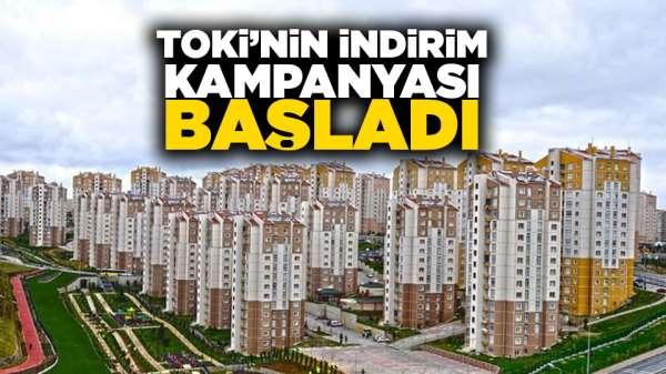 TOKİ'nin indirim kampanyası başladı