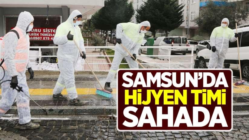 Samsun'da hijyen timi sahada