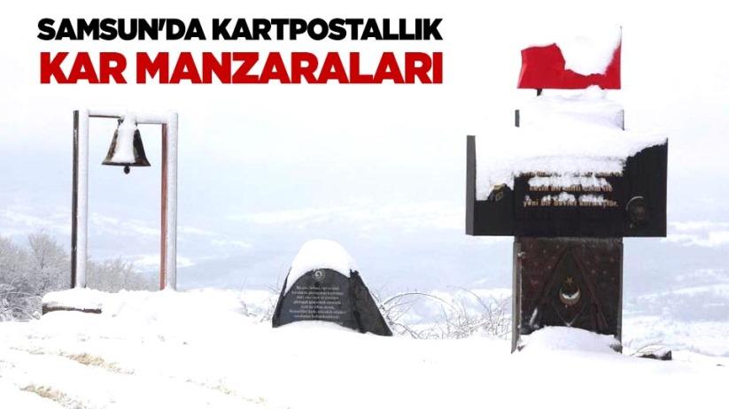 Samsunda kartpostallık kar manzaraları