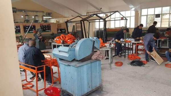 Mardinde meslek liseleri üretim merkezlerine dönüşüyor