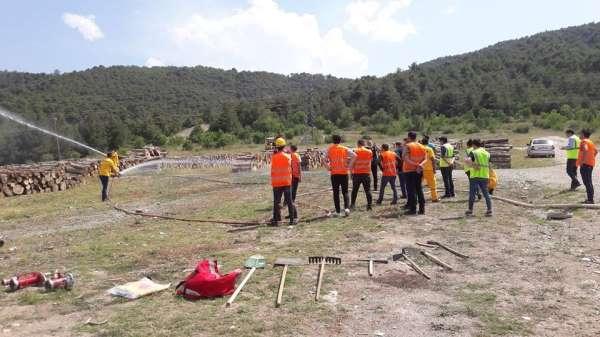 Amasya'da orman yangını tatbikatı