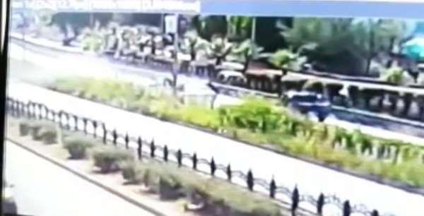Rize'deki kaza anı kameraya yansıdı