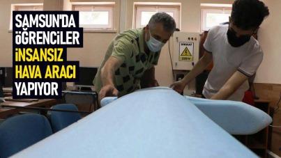Samsun'da öğrenciler insansız hava aracı yapıyor