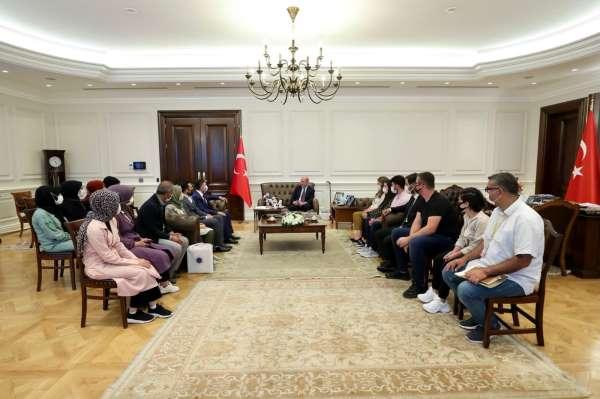 Batman Üniversitesi Rektörü Demir ile Öğrenciler İçişleri Bakanı Soyluyu ziyaret etti