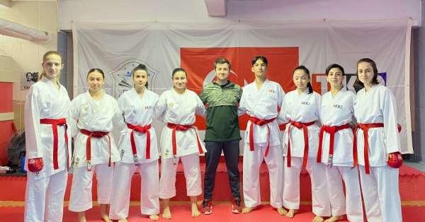 Tavşanlı Karate Okulu sporcularının hedefi büyük