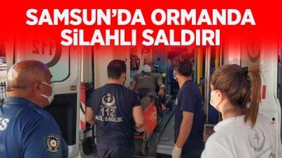 Samsun'da ormanda silahlı saldırı