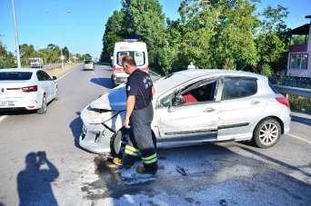 Samsun'da patoz kazası: 1 yaralı