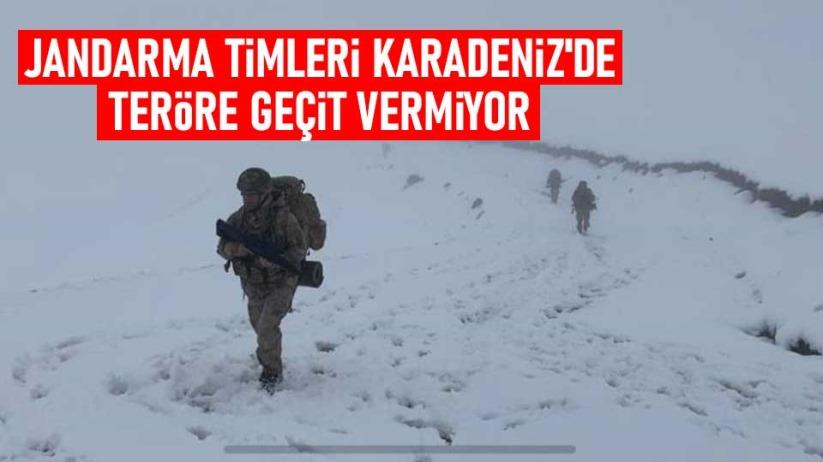 Jandarma timleri Karadenizde teröre geçit vermiyor