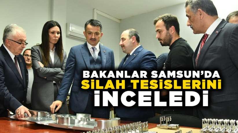 Bakanlar Samsun'da silah tesisilerini inceledi
