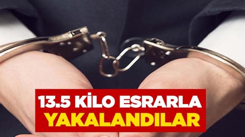 Samsun'da 13.5 kilo esrarla yakalandılar
