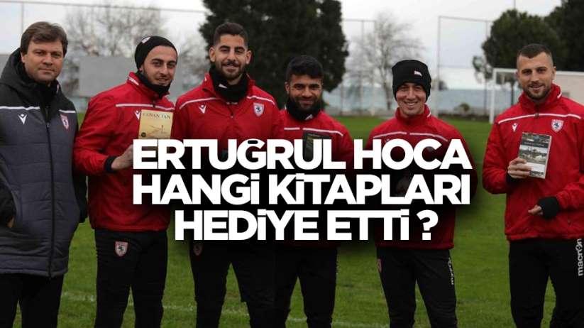 Samsunspor'da Ertuğrul Sağlam kitap hediyesi akımı başlattı