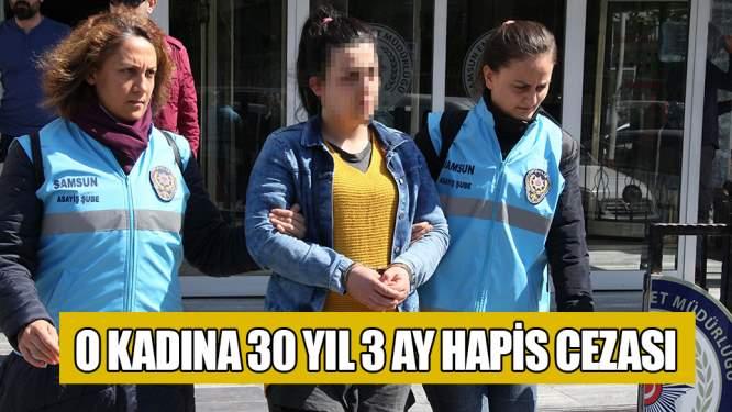 Samsun'da 30 yıl 3 ay hapis