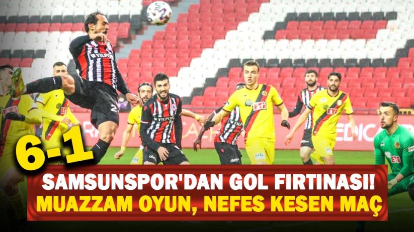 Samsunspor'dan gol fırtınası! Muazzam oyun, nefes kesen maç