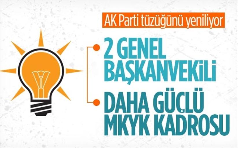 AK Partide Genel Başkanvekili sayısı 2ye çıktı