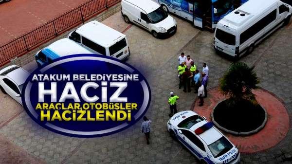 Atakum Belediyesine haciz! Otobüsler, araçlar hacizlendi