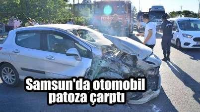 Samsun'da patoz kazası