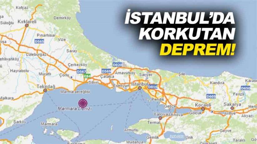 Son dakika! İstanbulda korkutan deprem